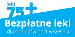 Informacja obezpłatnych lekach dla seniorów 75+